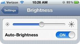 iphone 4s brightness